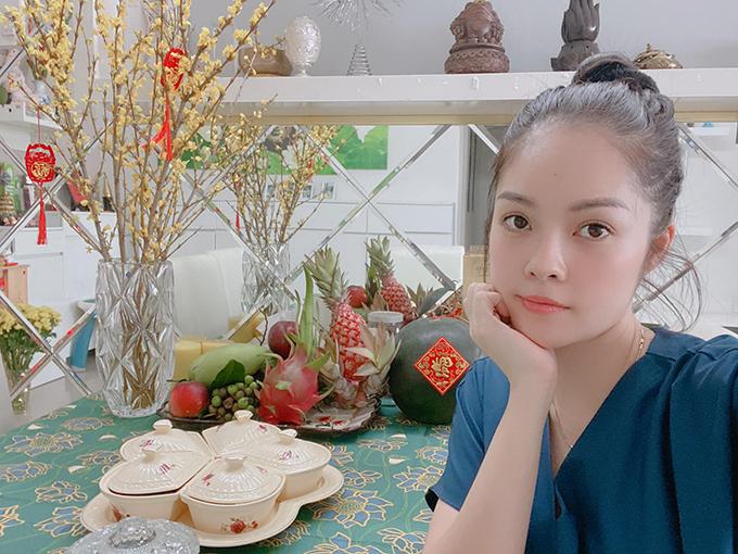 Dương Cẩm Lynh hoàn tất việc trang trí nhà cửa.