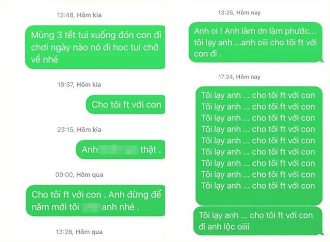 Nhật Kim Anh đăng tải loạt tin nhắn cho chồng cũ nhưng không được hồi đáp.