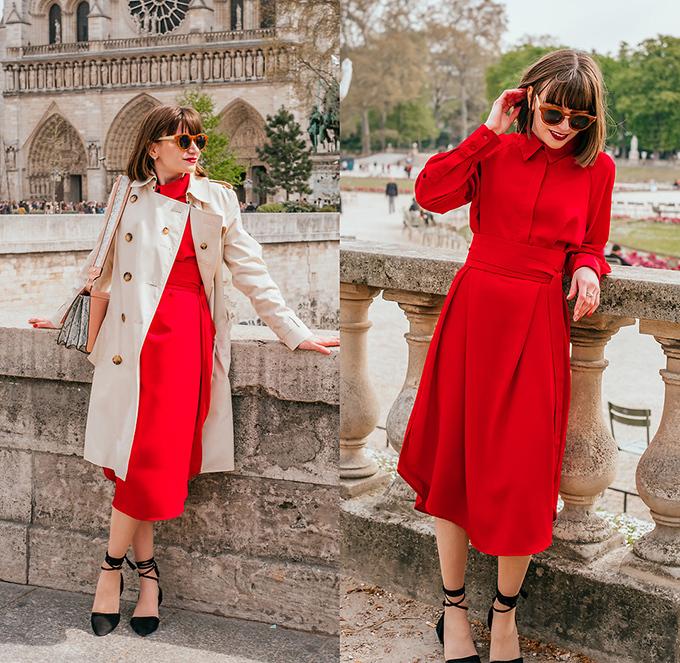 Là biểu tượng của sự may mắn, màu đỏ thường lên ngôi mỗi dịp Tết đến xuân về. Chỉ cần một bộ đầm đỏ cắt may chỉn chu, phái đẹp có thể tự tin bước xuống phố, thu hút ánh nhìn theo từng bước chân.
