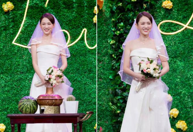 Trong chương trình, Trần Kiều Ân mặc váy cưới và tái hiện nhiều cảnh trong phim.