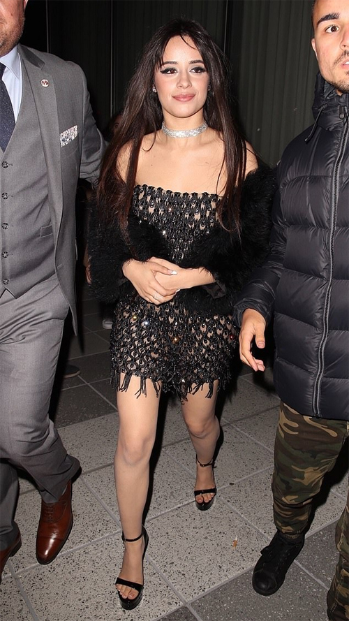 Camila khi đến dự tiệc.