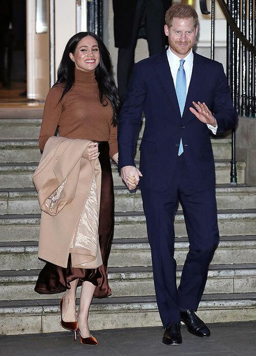 Vợ chồng Harry - Meghan thăm Canada House hôm 7/1 - nhiệm vụ hoàng gia được coi là cuối cùng của họ. Ảnh: GC Images.