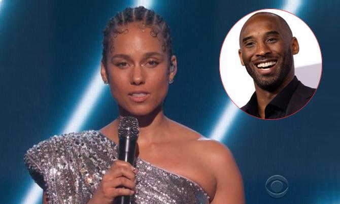 Alicia Keys hát tưởng nhớKobe Bryant tại Grammy