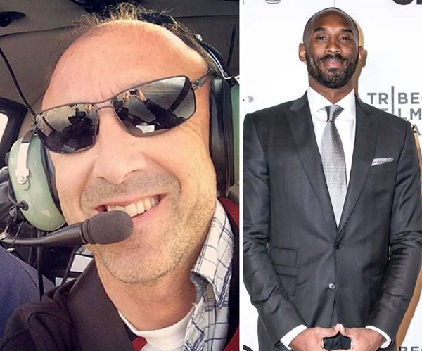 Phi công Ara (trái) và ngôi sao bóng rổ Kobe Bryant thiệt mạng vào ngày 26/1.
