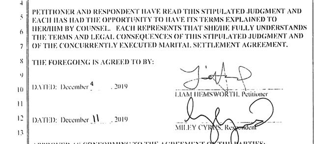 Cặp sao cùng ký vào thỏa thuận chung, nộp lên tòa án ngày 28/1.