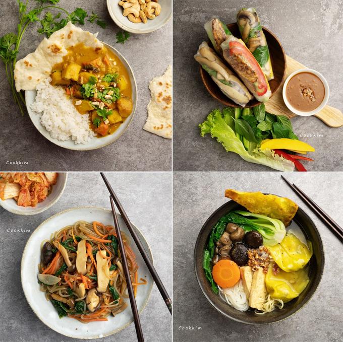 Các món chay của Thiên Kim đều được trình bày đẹp mắt, giúp các bữa ăn thêm thú vị, hào hứng.
