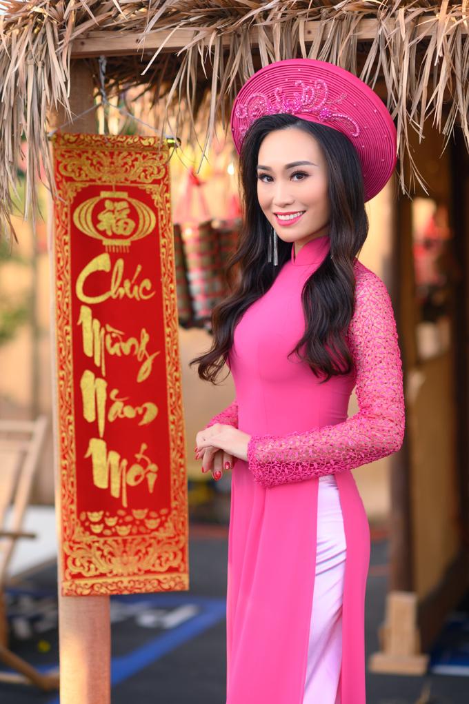 Người đẹp cho biết: Cộng đồng người Việt tại Mỹ tập trung khá đông và chúng tôi vẫn nỗ lực gìn giữ những giá trị truyền thống dân tộc.