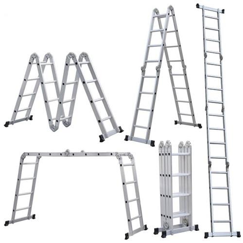 Thang gấp đa năng Ameca 4 đoạn AMC-M204 được làm từ hợp kim nhôm cao cấp, đảm bảo tầm nhìn khi sử dụng. Bề mặt bậc thang được thiết kế chống trượt, chống trượt ngã. Các khung bên trong được bao bọc để tăng cường bảo vệ kết cấu sản phẩm trong quá trình sử dụng, bảo quản, tải trọng và vận chuyển. Người dùng có thể duỗi thẳng thành hình chữ I nếu cần làm việc ở những độ cao lớn hoặc gấp lại thành hình chữ U, M, L để tạo thành những thế vững chắc phù hợp với công việc. Sản phẩm giảm 23%, còn 1,7 triệu đồng (giá gốc 2,2 triệu).