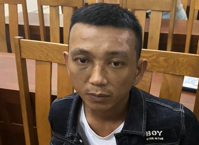 Nguyễn Cảnh Ba bị bắt giữ. Ảnh:Công an cung cấp.