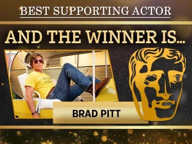 Brad được vinh danh tại lễ trao giải BAFTA.