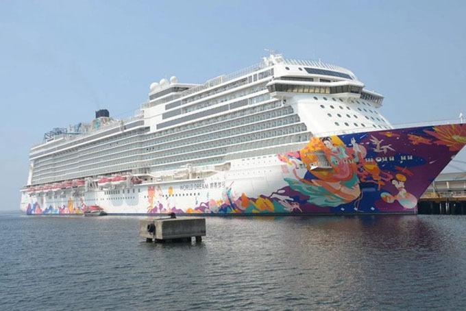 Siêu du thuyền năm sau World Dream. Ảnh: SCMP.