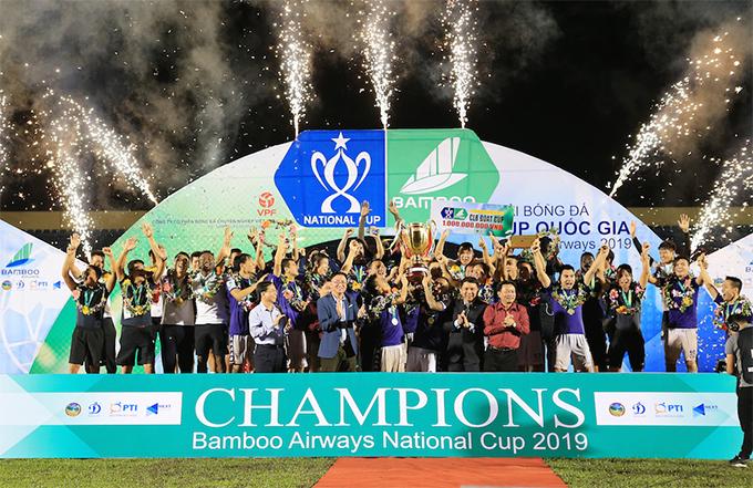 CLB Hà Nội vô địch Cup Quốc gia 2019. Ảnh: VPF.
