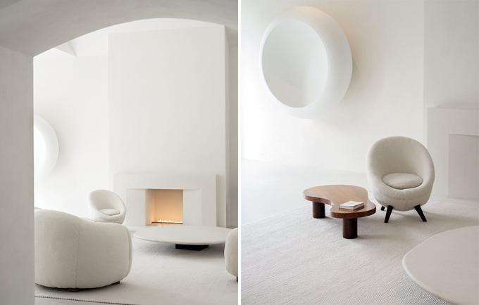 Nội thất đều mang phong cách tối giản.