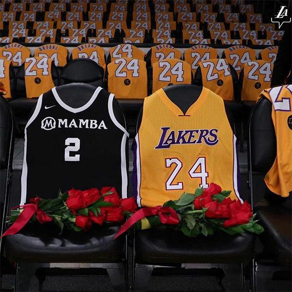 LA Lakers để trống hai ghế tri ân bố con huyền thoại xấu số Kobe Bryant
