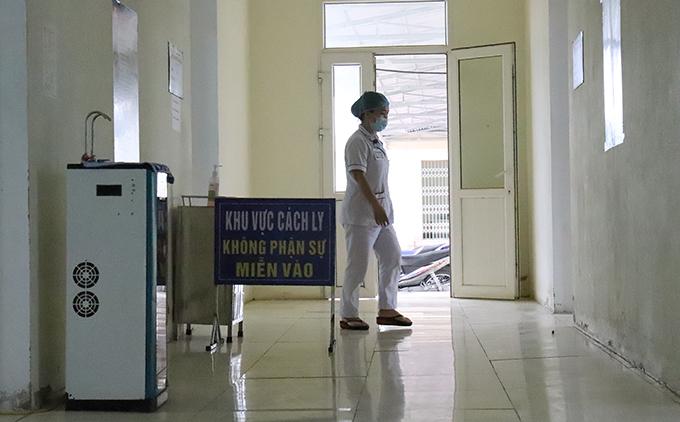 Khu vực cách ly tại Bệnh viện Đa kha thị xã Hồng Lĩnh. Ảnh: Hùng Lê