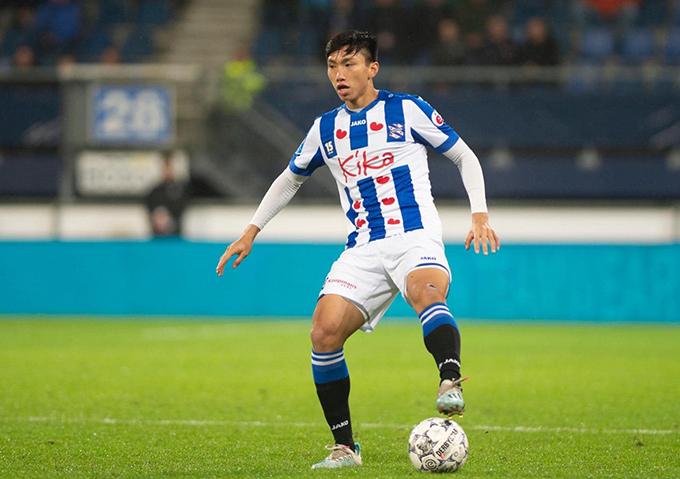 Văn Hậu đang nỗ lực thể hiện bản thân qua các trận đấu ở đội trẻ Heerenveen. Ảnh: SCH.