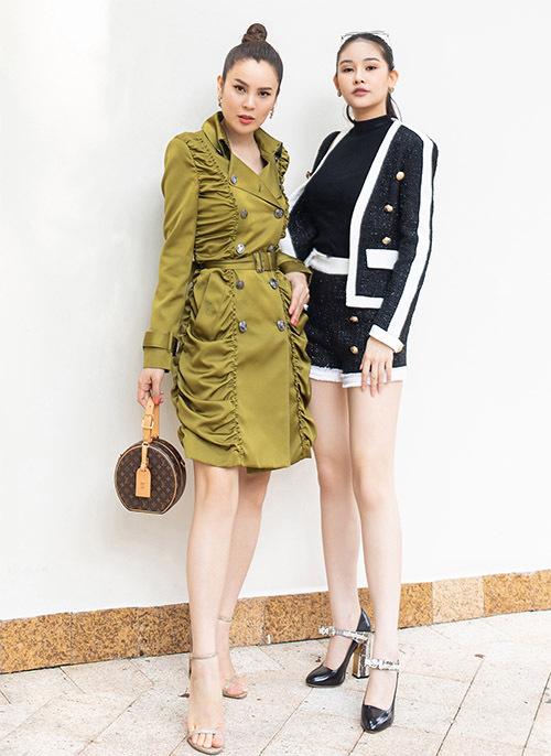 Phương Lê và Ngân Anh khá thân thiết vì cùng đam mê kinh doanh và thỉnh thoảng tham gia các hoạt động của showbiz Việt.