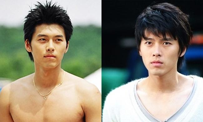 Hyun Bin tuổi thanh niên. Theo Daum, các chuyên gia sắc đẹp của Hàn Quốc nhận xét rằng Hyun Bincó khuôn mặt tỷ lệ vàng nhờ mũi thẳng, mắt đẹp, lông mày rậm, nụ cười tươi với má lúm đồng tiền.