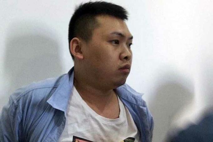 Xiao Guiping tại cơ quan công an. Ảnh: G.H.