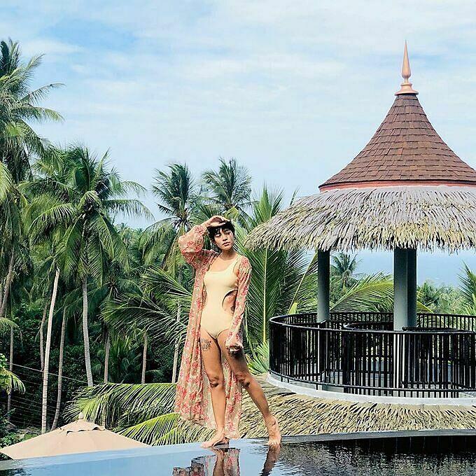 Mỹ nhân thánh giật chồng Thái Lan mê lặn biển