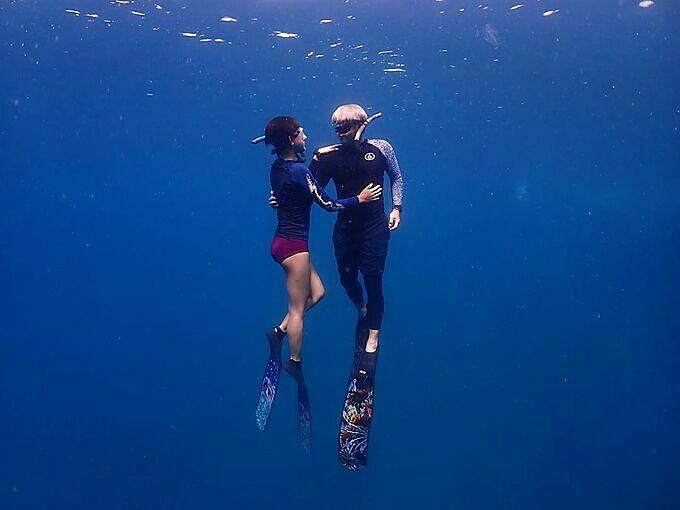 Mỹ nhân thánh giật chồng Thái Lan mê lặn biển - 5