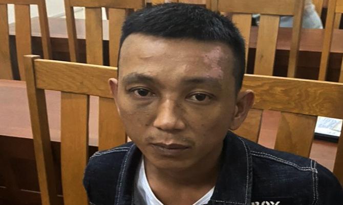 Nguyễn Cảnh Ba bị bắt giữ sau năm ngày lẫn trốn. Ảnh: Sơn Thủy.