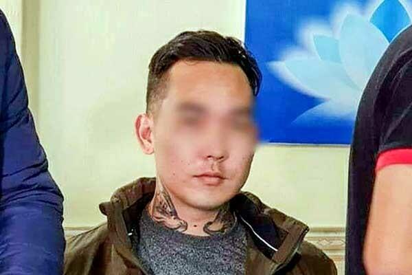 Michael Toshio khi bị tạm giữ. Ảnh: Công an cung cấp.