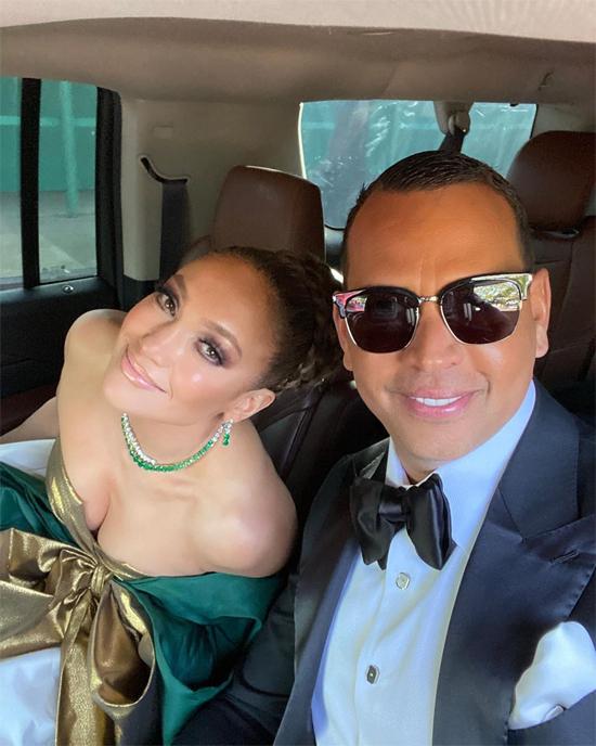 Jennifer và Alex khi tham dự lễ trao giải Quả cầu vàng 2020.