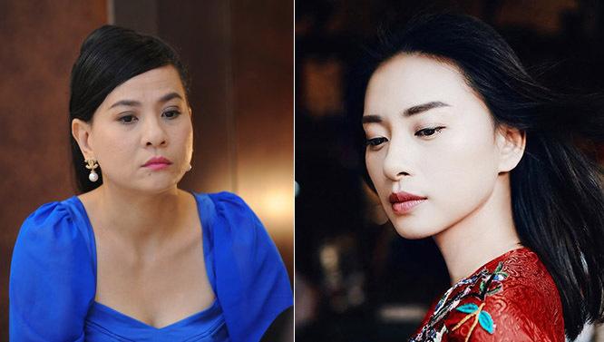 Diễn viên Cát Phượng (trái) và Ngô Thanh Vân.