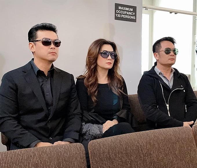 Trizzie Phương Trinh bên tình mới và chồng cũ Bằng Kiều.