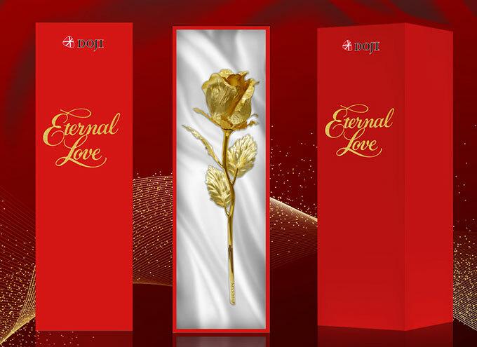 Bồng hồng vàng – biểu tượng của tình yêu vĩnh cửu.