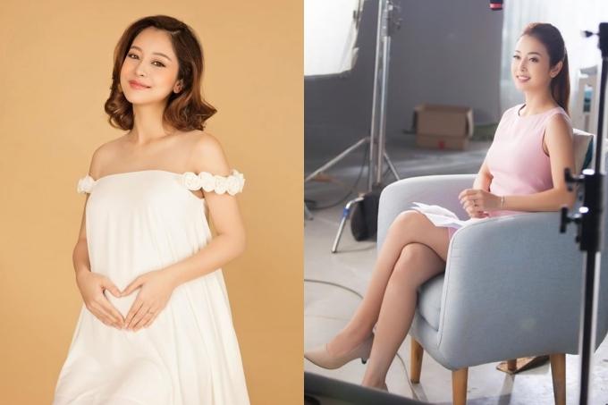 Chưa đầy một tháng sau sinh, hoa hậu Jennifer Phạm trở lại công việc. Cô diện váy ôm, khoe thân hình gọn gàng đáng ngưỡng mộ.