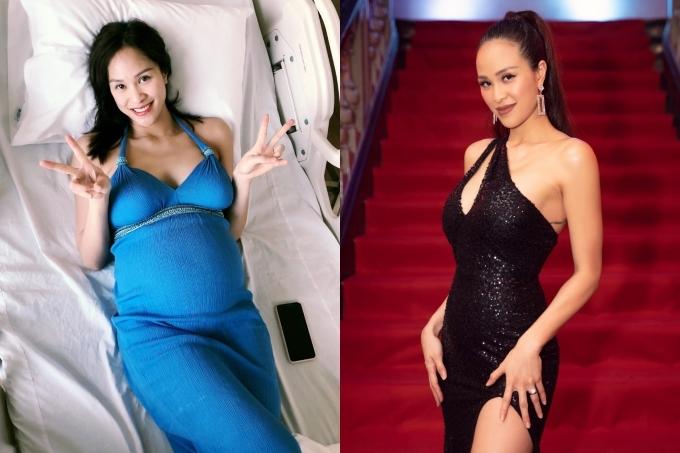 MC Phương Mai lập tức trở lại công việc, dạo phố ngay sau sinh một tuần. Cô trở lại cân nặng 55kg mà không gặp nhiều khó khăn.