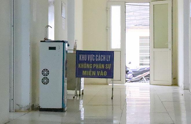 Khu cách ly tại một bệnh viện ở Hà Tĩnh. Ảnh:Hùng Lê