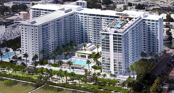 Khách sạn 5 sao The 1 Hotel South Beach, nơi diễn ra hội nghị JPMorgan tối 6/2. Ảnh: