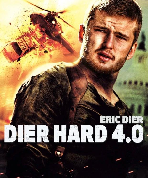 Người hùng Eric Dier trong phim Dier Hard 4.0 thế vai tài tử gạo cội Bruce Wiil trong phim Die Hart 4.0.