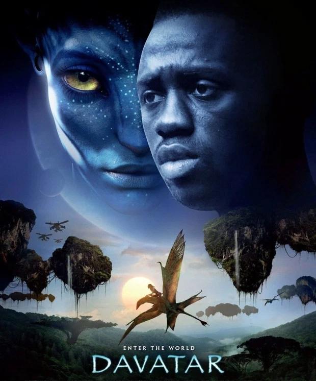 Siêu phẩm Avatar của đạo diễn James Cameron được phù phép thành Davatar với nhân vật chính là hậu vệDavinson Sanchez.