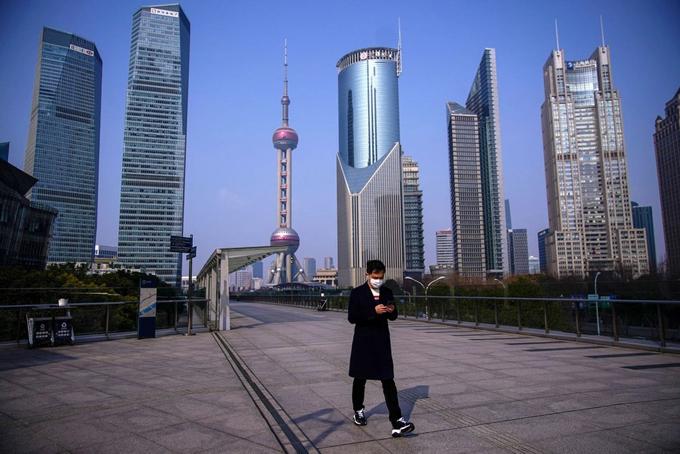 Thành phố Thượng Hải, siêu đô thị Trung Quốc với hơn 20 triệu dân vắng vẻ vì dịch bệnh. Ảnh: Cnnews.