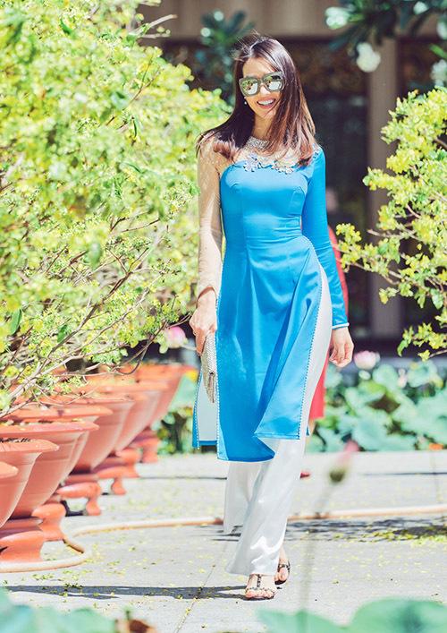 Các mẫu áo dài cách tân không cổ, tà ngắn phù hợp với những cô gái thích sựtrẻ trung, năng động.