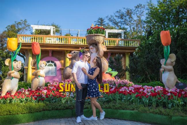 Tới đây, du khách có cơ hội tham dự lễ hội Xứ sở muôn hoa của Sun World Ba Na Hills bắt đầu từ ngày 20/1 (tức 26 Tết) và kéo dài tới 30/3.