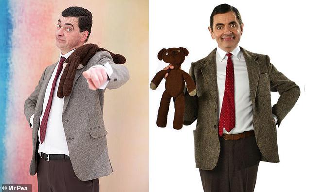 Nigel Dixon (trái) có ngoại hình rất giống Mr Bean do danh hài Rowan Atkinson thủ vai (phải).