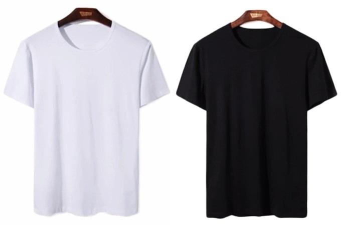 Áo thun nam cổ trònvới 65% cotton thoáng mát, giúp các chàng dễ phối với nhiều trang phục khác nhau. Thiết kế có ba màu: xám, đen, trắng. Khi mua tông màu đen, phái mạnh được tặng một quần lót. Sản phẩm đang bán 60.000 đồng trên Shop VnExpress.