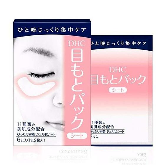 Mặt nạ dưỡng da vùng mắt DHC Pack Sheet Eyes thiết kế dùng cho vùng da dưới mắt, cấp ẩm cho da và cải thiện quầng thâm mắt. Chiết xuất từ quả mâm xôi, alpha-arbutin và hoa mẫu đơn giúp đánh tan quầng thâm và bọng mắt. Tinh chất lá ô liu hỗ trợ giảm nếp nhăn.  Chiết xuất đậu nành giúp thư giãn mắt hiệu quả chỉ sau 20 phút sử dụng. Mặt nạ gồm 6 miếng, giá 212.500 đồng, giảm 15% so với giá gốc.