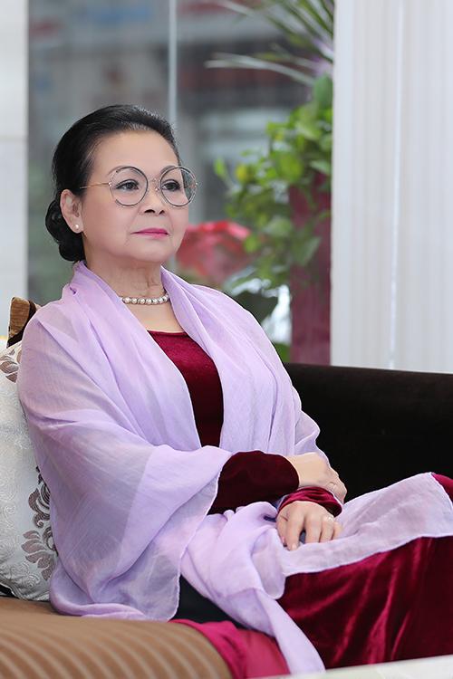 Khánh Ly khi trở về Hà Nội vào tháng 1/2019. Ảnh: Hòa Nguyễn