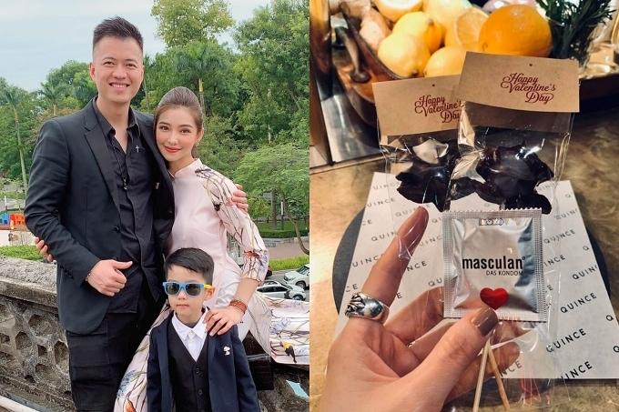 Vợ chồng Lưu Đê Ly - DJ Huy DX có một buổi tối lãng mạn.
