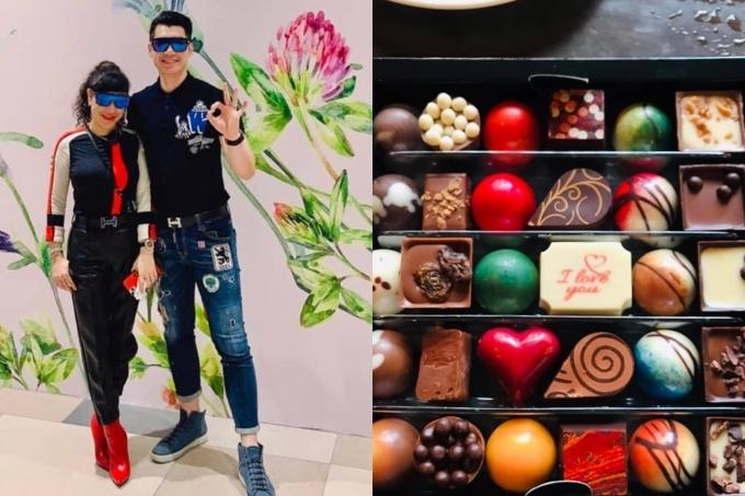 Trương Nam Thành tình cảm mua chocolate tặng bà xã.