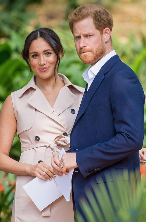 Vợ chồng Harry - Meghan trong chuyến công du Nam Phi hồi đầu tháng 10/2019. Ảnh: PA.