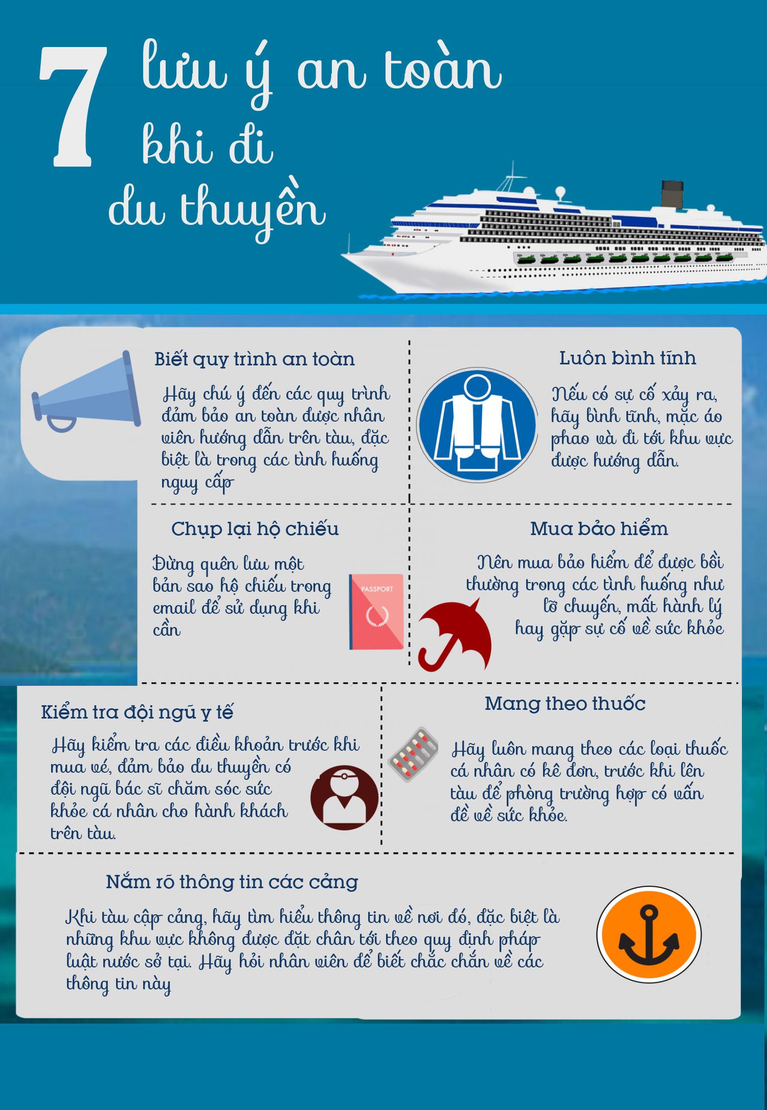 7 lưu ý an toàn khi đi du thuyền
