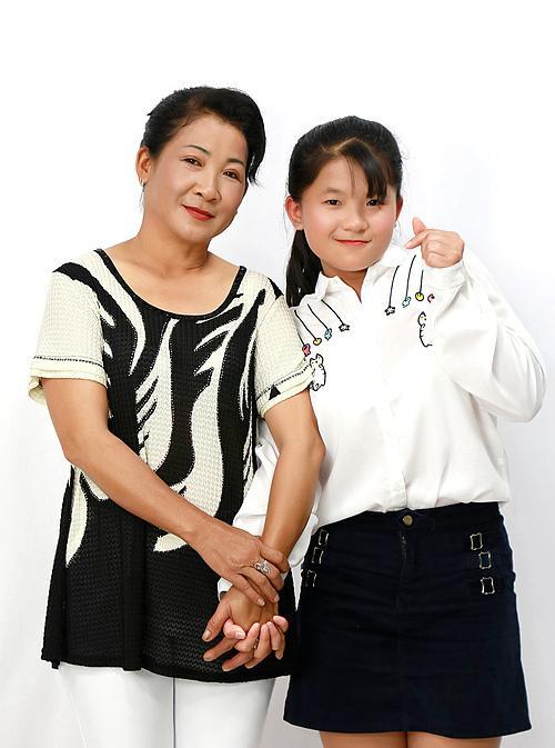 Thu Phương và mẹ.