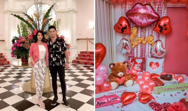 Maria Ozawa bên người yêu trong ngày lễ tình nhân 14/2.